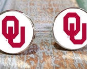 Oklahoma State Boomer Sooner Sports gift set, Oklahoma State cufflinks, Boomer Sooner tie clip, boomer sooner accessories, college logo
