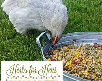 Herbs for Hens COOP CONFETTI™ Chicken Cubby Aromatherapy 1LB Herbal Egg Box Mix Organic Dried Mint Lavender Rosebud Chamomile Calendula