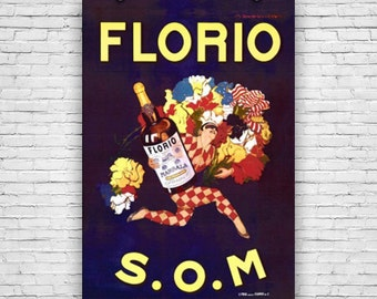 Florio S.O.M, by Marcello Dudovich, Vintage Advertising, Art Print Poster