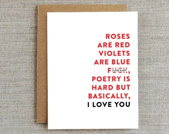 Funny Valentine's Day Card, Funny Love Card, Valentine Card, I Love You Card, Card for Him, Card for Boyfriend, Girlfriend, Husband, Wife