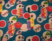 Japanese Fabric : Maiko Girls in Kyoto  - 1/4 Yard