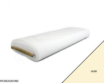 "Bridal Wedding Tulle Fabric 108"" Wide 50 Yard Bolt - Ivory"