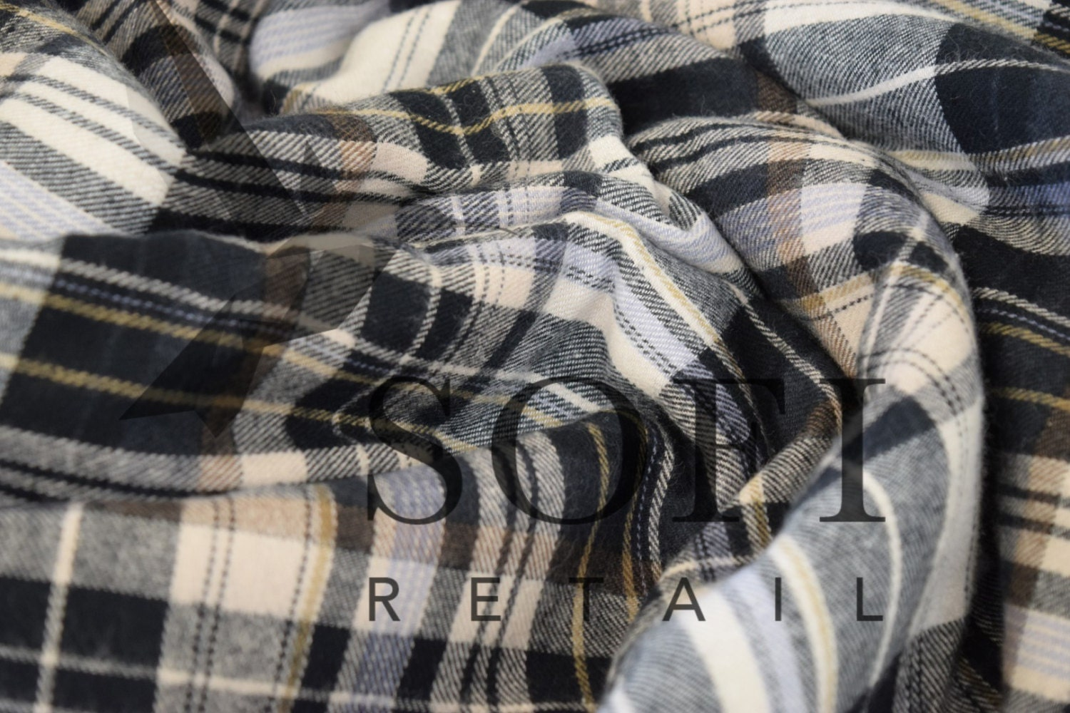 cotton flannel plaid 22 tartan fabric by the yard. Black Bedroom Furniture Sets. Home Design Ideas