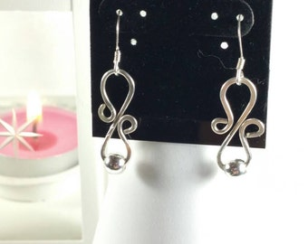 Hammered Sterling Silver Wire Earrings