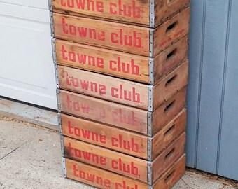 Vintage Towne Club Crates