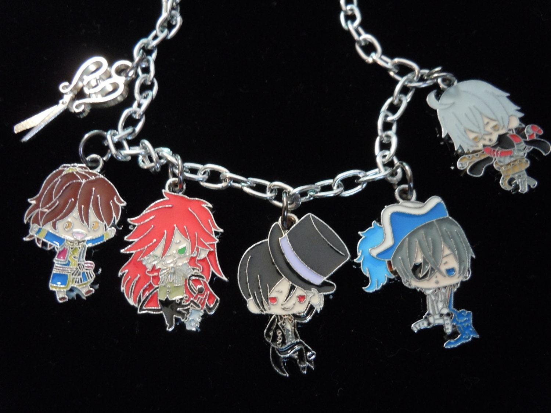 anime bracelet butler jewelry otaku charm