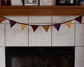 Crochet Bunting Banner - Triangle Flag Banner - Earthy Tones - Garland