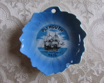 Plymouth Mayflower Mass. Collectable Souvenir Plate