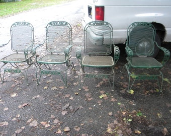 Reserve For Sandy Vtg 50s 60s Retro Outdoor Metal Lawn Patio