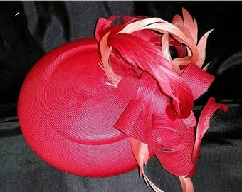Spring Clearout Coral tilt fascinator
