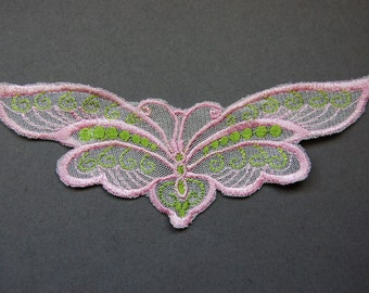 Pink Large Butterfly Applique
