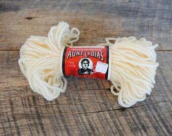 Vintage Aunt Lydia's Heavy Rug Yarn Original Cream 70 Yard