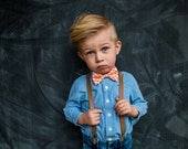 SHIPS FREE Tan Leather (pu) Suspenders for Baby, Toddler, little boy, and Men, choose your size, ships FREE