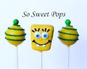 So Sweet Pops Happily Made Sponge Man Inspired Cake Pops