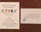 Baby Invitations w/ insert - Books - set of 30