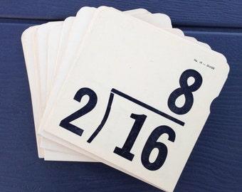Vintage Division Flash Cards, Set of 10