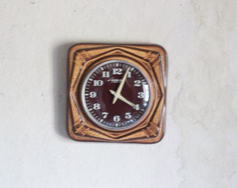 Vintage Wall Clock // 1970 German Ceramic BLESSING Clock