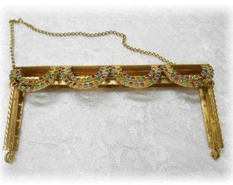 Vintage Jeweled Purse Frame