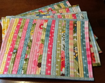 Sturdy Colorful Quilted Placemats Set of 4