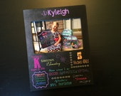 First Day of School Chalkboard Style Frame Kindergarten Frame School Gift Favorite Things Personalized Wood 4x6 Picture Frame Keepsake Frame