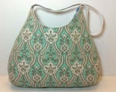 Turquoise and Gray Purse