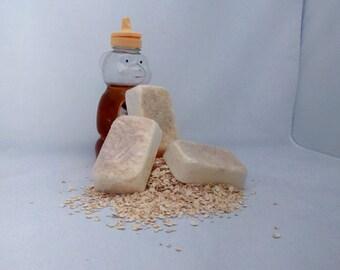 Oatmeal Goat's Milk Soap with Honey, Honey and Goat's Milk Soap, Glycerin Bar, Bath Soap, Facial Soap, Exfoliating Soap, Handcrafted Soap