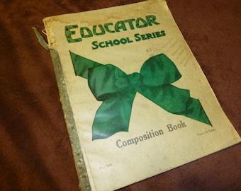 Handwritten Diary in School Composition Book 1919 Wisconsin Diarist