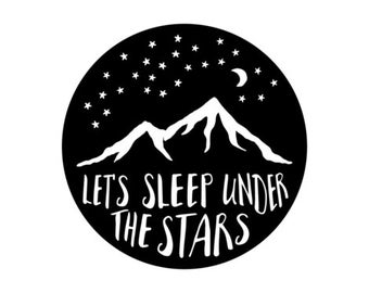 Mountain Crib Sheet - Fitted Sheet, Let's Sleep Under The Stars, Adventure, Woodland, Mountains