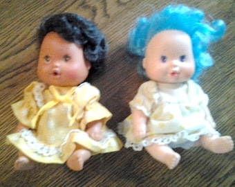 "Two (2) Tiny Four Inch (4"") Doll Babies"