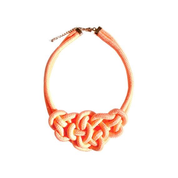 Rope Necklace - Neon Orange