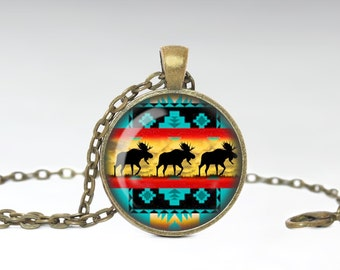 Tribal  Necklace BoHo Jewelry Necklace Wearable Art Jewelry Tribal Pendant