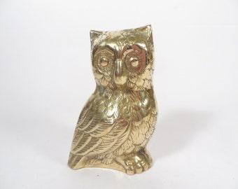 Vintage Brass Owl - Brass Owl Figurine
