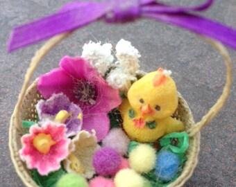 easter basket duck eggs ornament decoration