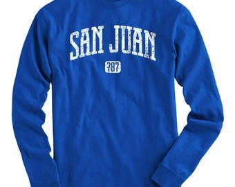LS San Juan 787 Tee - Long Sleeve T-shirt - Men and Kids - S M L XL 2x 3x 4x - San Juan Puerto Rico Shirt - 4 Colors