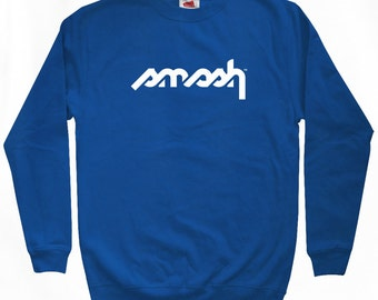 Smash Stencil Logo Sweatshirt - Men S M L XL 2x 3x - Crewneck Smash Transit Shirt, Move Forward, Regret Nothing - 4 Colors