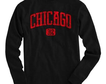 LS Chicago 312 Tee - Long Sleeve T-shirt - Men S M L XL 2x 3x 4x - Chicago Shirt, Windy City - 4 Colors