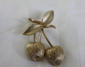 Sarah Coventry Cherry Brooch
