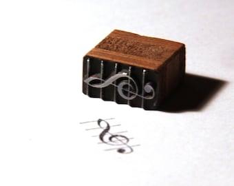 Stempel Siegel Notenschlüssel Violinschlüssel