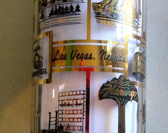Vintage 1970's Swanky Swig Las Vegas Glass Signed Dated Gilbert Stone  Bat Cocktails Rat Pack Casino Drinking Bar Glasses