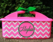 Personalized Chevron Shower Caddy - Must-Haves for Camp, Dorm Room & Sorority House - Graduation Gift - Assorted Colors/Designs