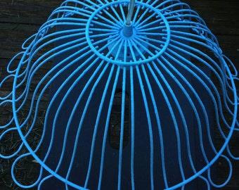 Lampenschirm Industrial Laterne Vintage Recyclingfashion blue himmelblau lamp light Hipster decor