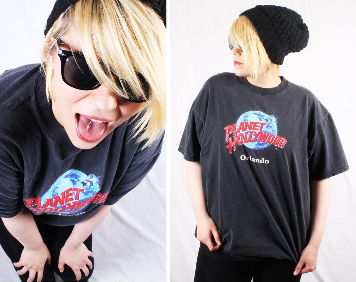 Vintage 90s planet hollywood orlando t shirt souvenir for Planet hollywood t shirt