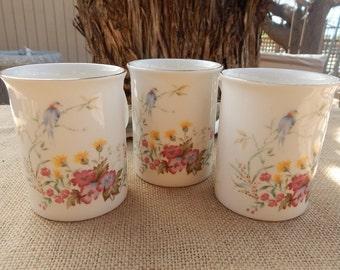 Royal Kent Staffordshire England Porcelain Cups  (3)  ~  Royal Kent Coffee Mugs