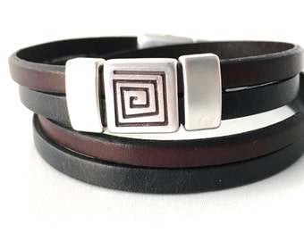 Leather Wrap Bracelet - Womens Wrap Bracelet - Leather Bracelet - Womens Jewelry - Womens Bracelet Leather