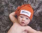 baby shower gift- twin baby gift- newborn hats personalized- hospital hats- twins photo prop