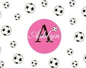 Monogram Decal - Name decal - Personalized decals - soccer decals - teen decals - wall decals - camp trunk decals - vinyl wall decals