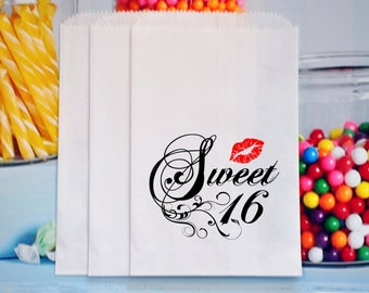 Sweet 16 treat bags, sweet sixteen party favors, sweet sixteen goody bags, GLAMOROUS SWEET EVENTS