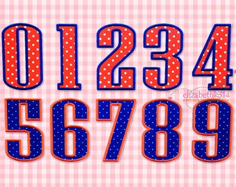 """Bx format - Sizes 3"""" 4"""" 5"""" 6"""" - Applique Number 429 - Machine Embroidery Design -Applique design embroidery numbers 0-9"""