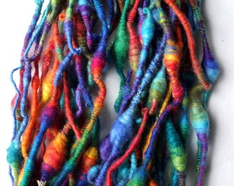 Psychodelic Space Worm - 2 ply Core Yarn - Multicolored Art Yarn By kathrin Kneidl