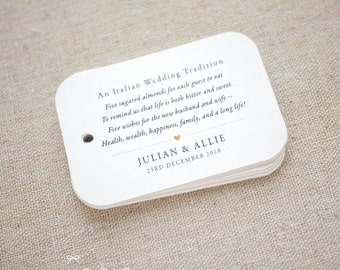 View Wedding Favor Tags by SmilingTag on Etsy